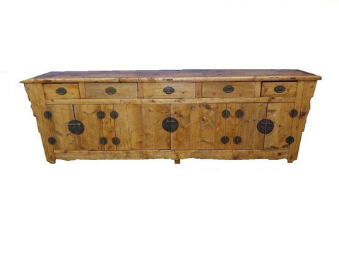 Large antique oriental buffet