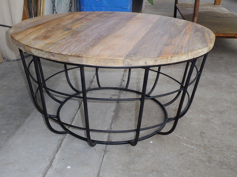 Industrial style lobster pot coffee table