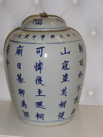 Decorative oriental ginger jar
