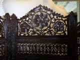 Antique oriental decorative screen