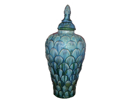 Decorative turquoise vase