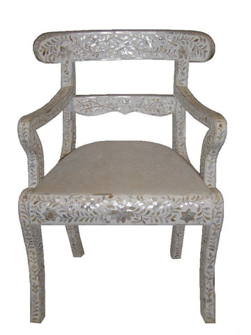 Mother of pearl inlaid accent chair