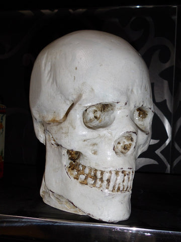 Decorative hand carved skull.