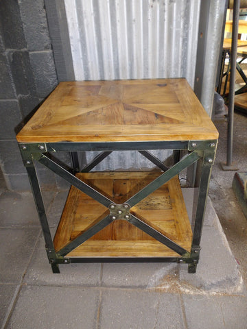 Industrial style lamp table
