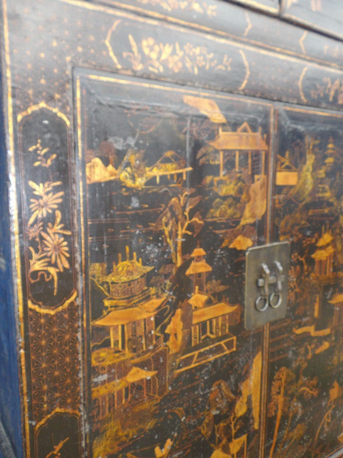 Antique Chinese wedding cabinet. Jack Horner Interiors.