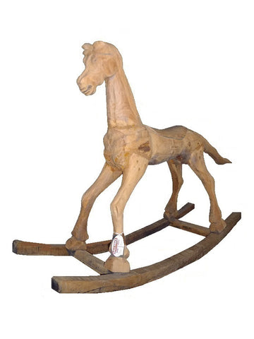 Decorative vintage rocking horse.