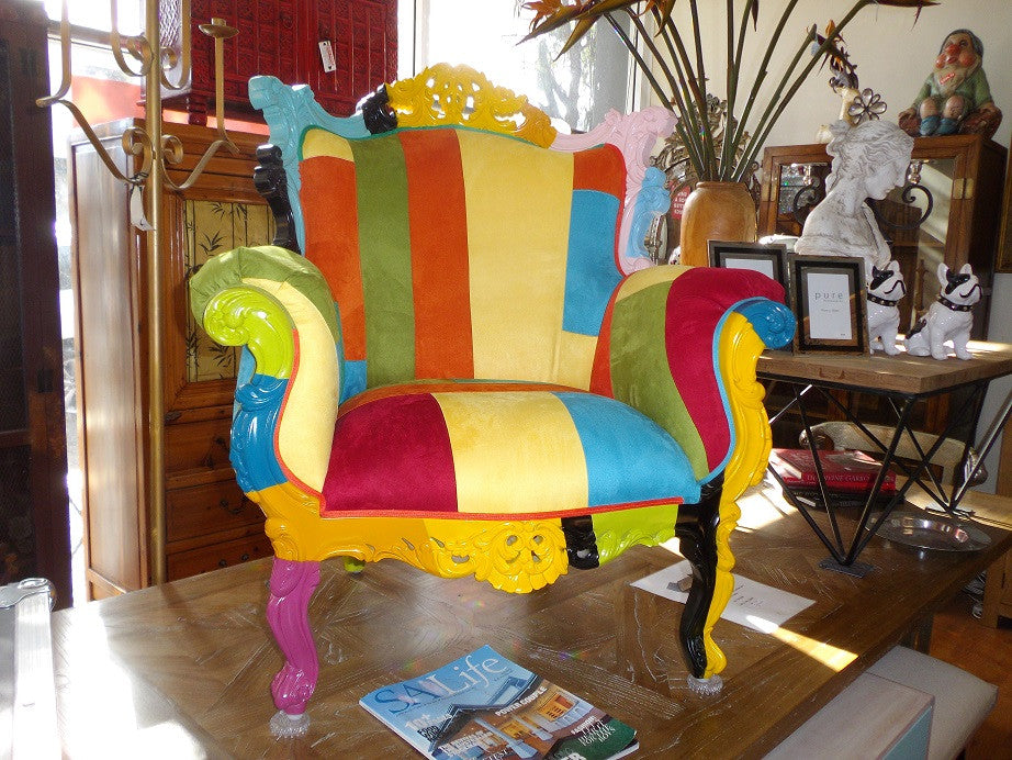 Rainbow Rococco French Style Accent Chair Jack Horner