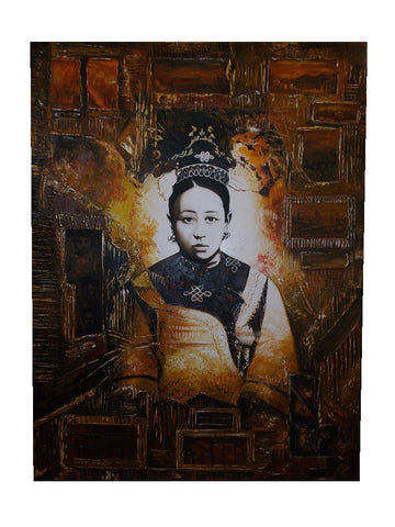 Decorative Chinese wise old woman painting