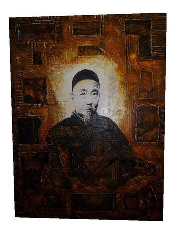 Decorative Chinese wise old man painting