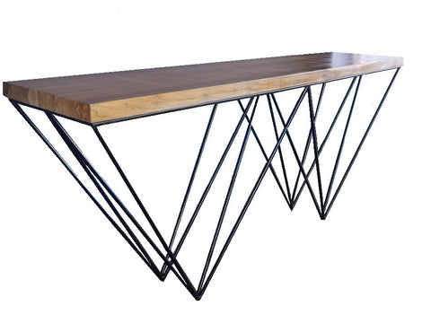 Matrix industrial style console table