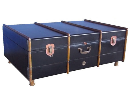 Industrial suitcase coffee table