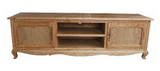 French style oak tv unit
