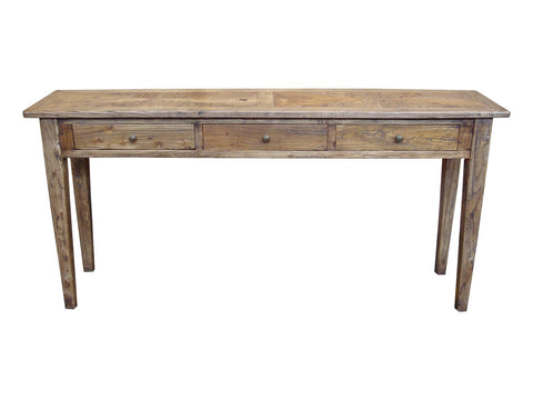 Parquetry top console table