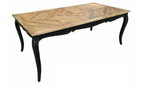 Renee parquetry top French style dining table