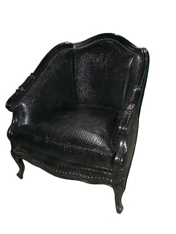 French style mock croc accent chair