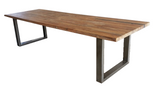 Teak top dining table