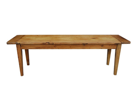 Recycled elm bench seat
