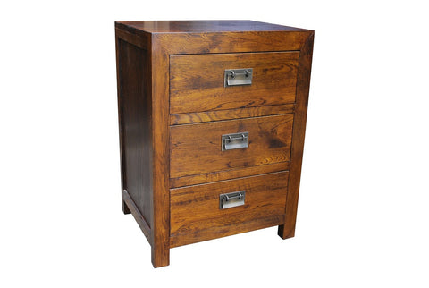 European oak bedside table