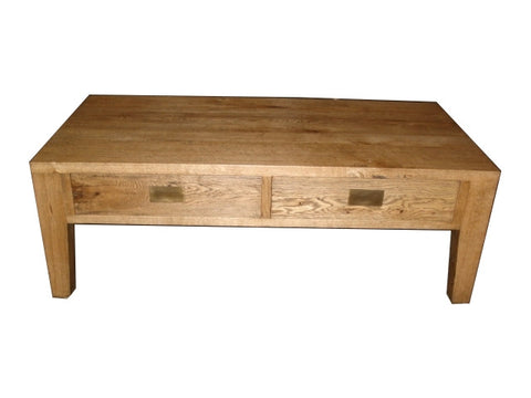 European oak coffee table