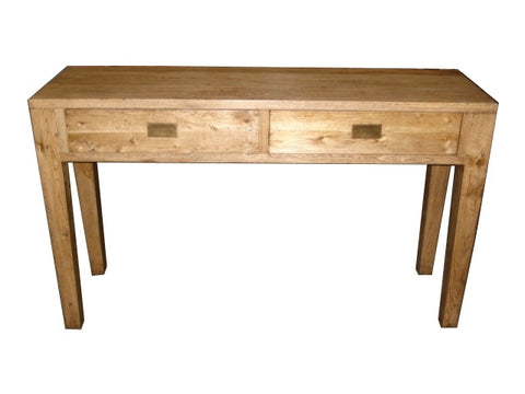 European oak console table.