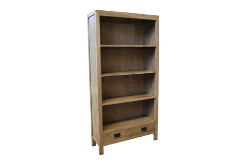 European oak bookcase