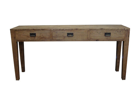 European oak console table
