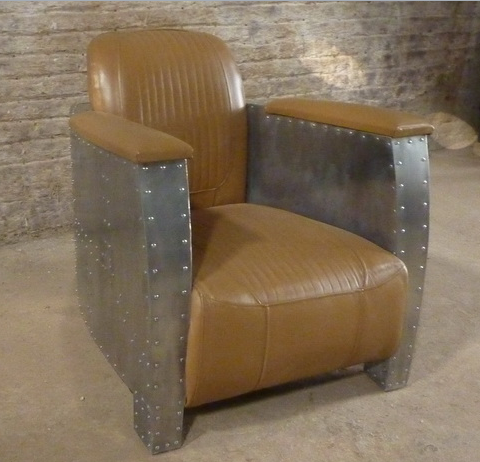 Aviator Industrial Style Accent Chair Jack Horner Interiors