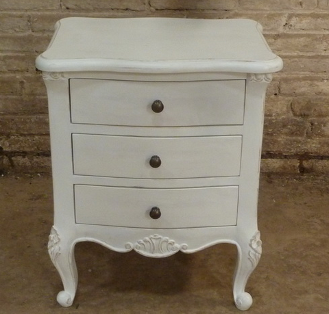 French style painted bedside table.