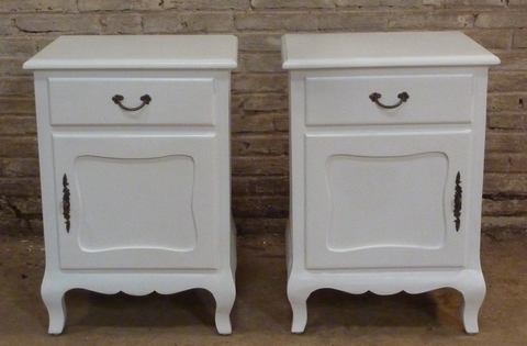 French style painted bedside table