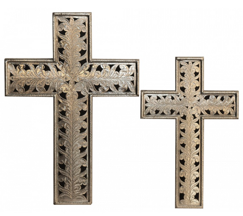 Decorative pair of crosses