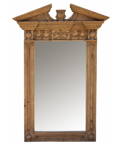 Large decorative timber mirror
