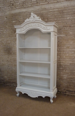 French Style Open Bookcase Jack Horner Interiors