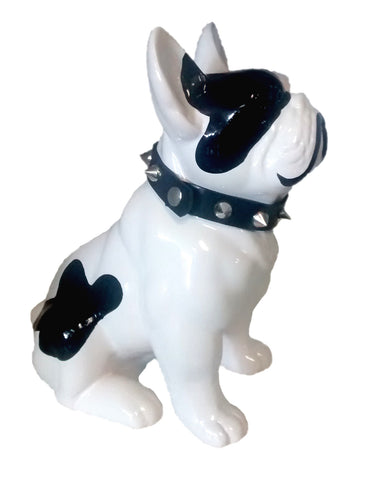 Bulldog Statue with Studded Collar