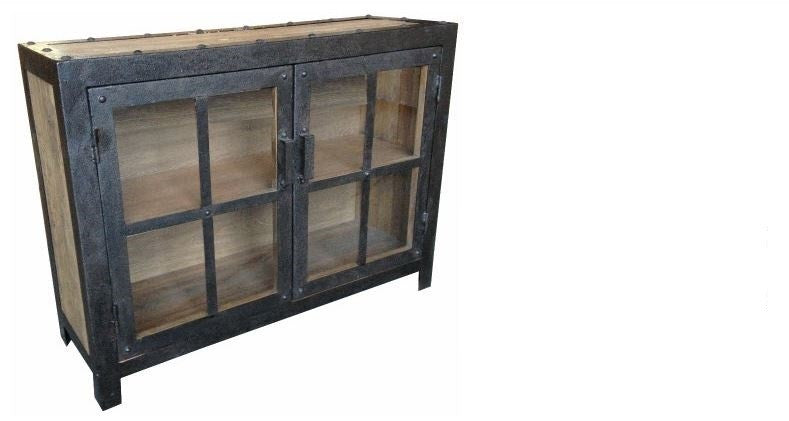 Industrial Metal And Recycled Timber Buffet