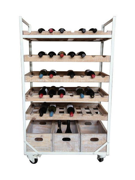 Chateaux Industrial Style Wine Rack Jack Horner Interiors