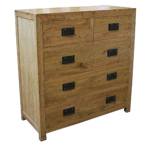 European oak chest of drawers