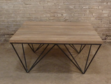 Matrix industrial style coffee table