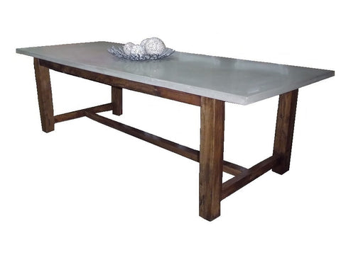 Kim polished concrete top dining table