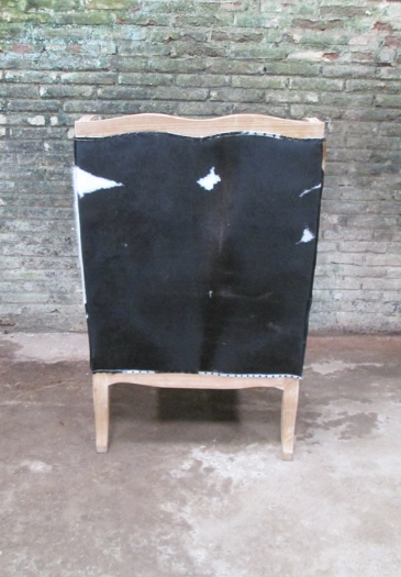 French Style Cowhide Accent Chair Jack Horner Interiors