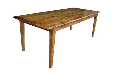 Recycled timber dining table