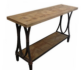Industrial style console table with bottom shelf