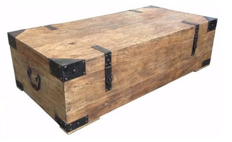 Industrial trunk style coffee table