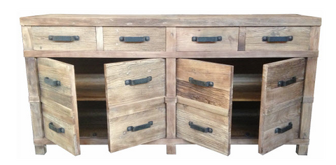 Industrial style rustic buffet.