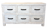 Industrial style rustic 6 drawer unit