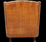 Vintage style leather accent chair