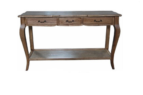 French style oak console table