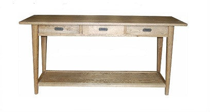 Scandi console with shelf