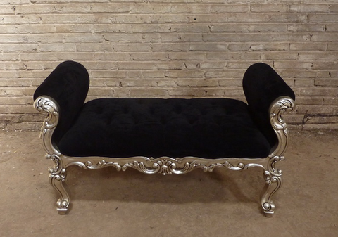 French style padded bench seat