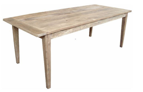 Rustic tapered leg dining table