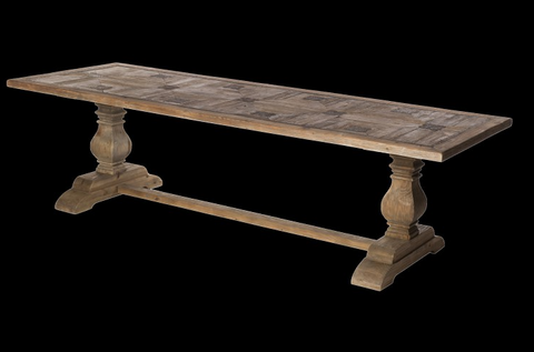 French style recycled timber dining table